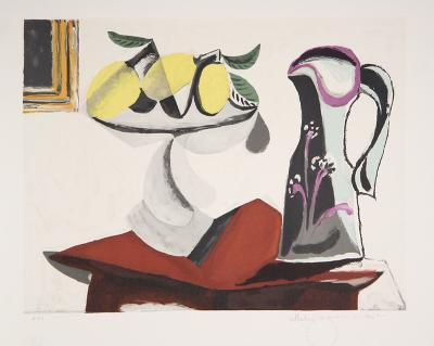 Nature Morte au Citron et a la Cruche, J-149-Pablo Picasso-Premium Edition