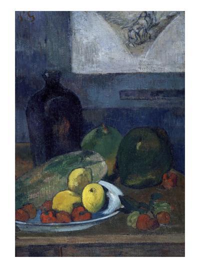 Nature morte au dessin de Delacroix-Paul Gauguin-Giclee Print