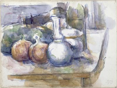 Nature morte avec fruits, carafe, sucrier et bouteille-Paul C?zanne-Giclee Print