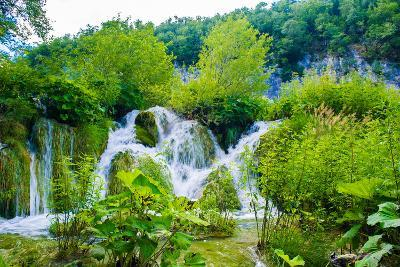 Nature of Croatia, Europe. Water Runs among the Stones-siempreverde22-Photographic Print