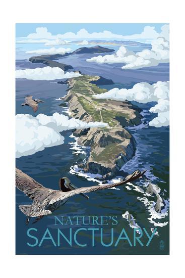 Nature's Sactuary - National Park WPA Sentiment-Lantern Press-Art Print