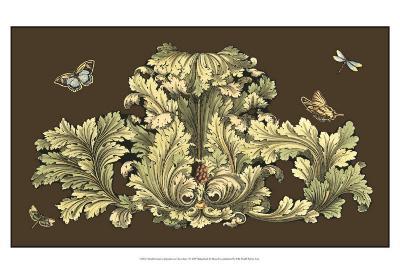 Nature's Splendor on Chocolate I-Michel Pergolesi-Art Print