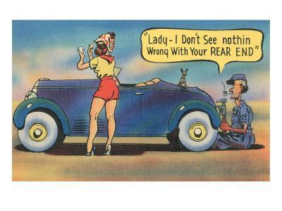 Naughty Mechanic Joke--Art Print