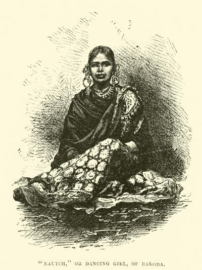 """Nautch"", or Dancing Girl, of Baroda--Giclee Print"
