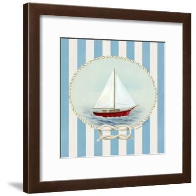 Nautical and Nice Sail Boat-Danielle Murray-Framed Art Print