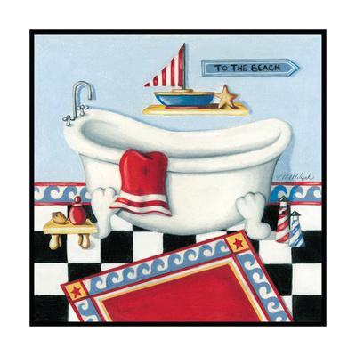 Nautical Bath I-Kathy Middlebrook-Art Print