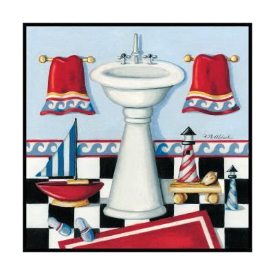 Nautical Bath II-Kathy Middlebrook-Art Print