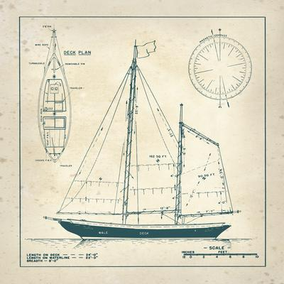 Nautical blueprint iii art print by the vintage collection the new nautical blueprint iii art print by the vintage collection the new art malvernweather Gallery