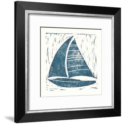 Nautical Collage on White IV-Courtney Prahl-Framed Art Print