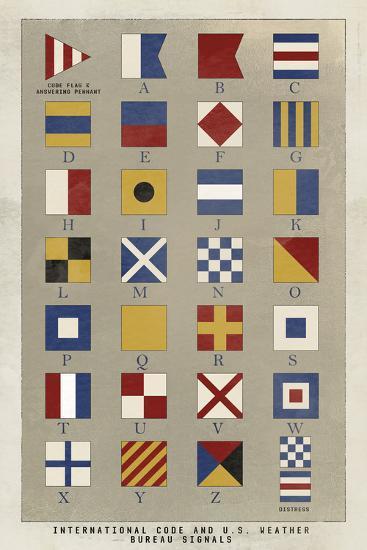 Nautical Flags-Ken Hurd-Giclee Print