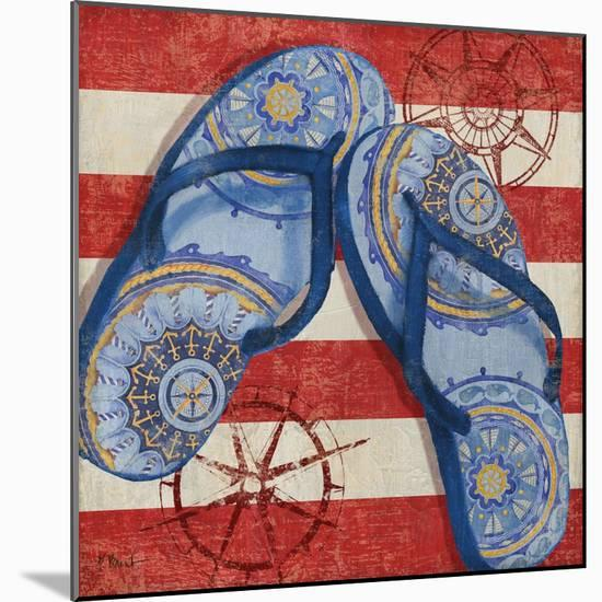 Nautical Flip Flops II-Paul Brent-Mounted Art Print