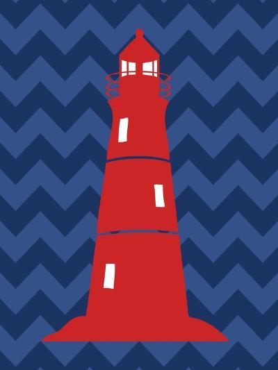 Nautical Lighthouse-N^ Harbick-Art Print