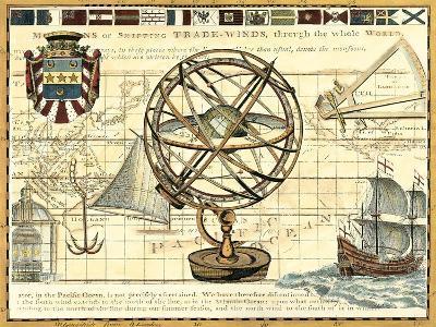 Nautical Map I-Deborah Bookman-Art Print