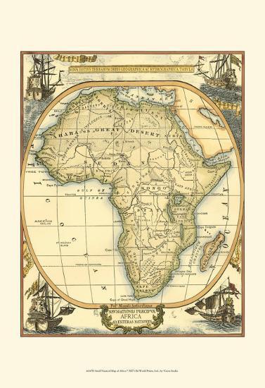 Nautical Map of Africa--Art Print