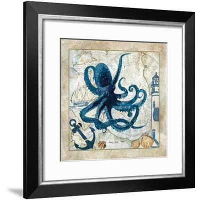 Nautical Octopus-Jill Meyer-Framed Art Print