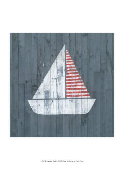 Nautical Plank I-Grace Popp-Art Print
