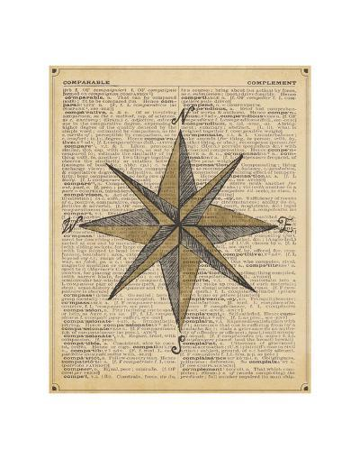 Nautical Series - Nautical Star-Sparx Studio-Art Print