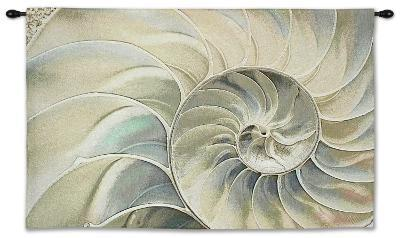 Nautilus Ocean Blue Wall Tapestry - Small--Wall Tapestry