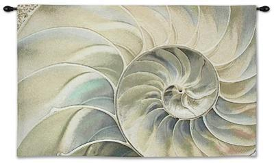 Nautilus Ocean Blue Wall Tapestry - Small