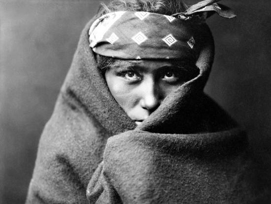 Navajo Boy, C1904-Edward S^ Curtis-Photographic Print