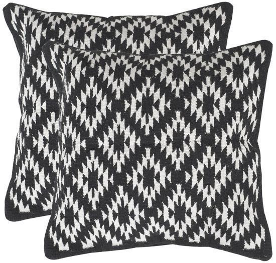 Navajo Diamond Pillow Pair - Black--Home Accessories