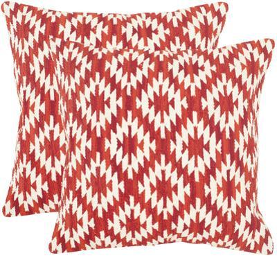 Navajo Diamond Pillow Pair - Red