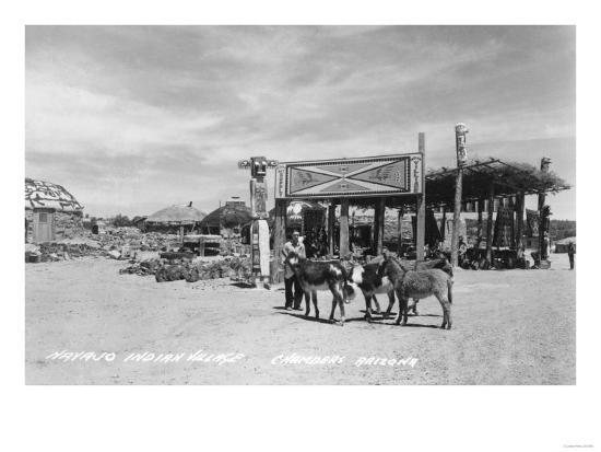 Navajo Indian Village in Chambers, Arizona Photograph - Chambers, AZ-Lantern Press-Art Print