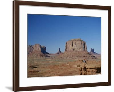 Navajo Lands, Arid Landscape with Eroded Rock Formations, Monument Valley, USA-Adina Tovy-Framed Photographic Print