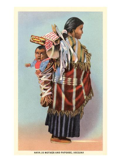 Navajo Mother and Papoose--Art Print