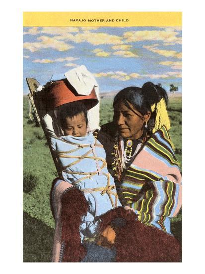 Navajo Mother with Papoose--Art Print