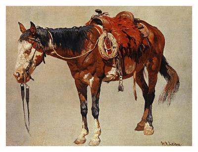 Navajo Pony-William R^ Leigh-Art Print