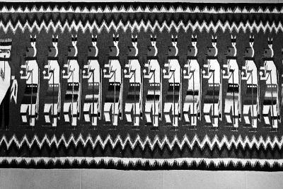 Navajo Rug Depicting Kachina and Yei Figures, 1968--Photographic Print
