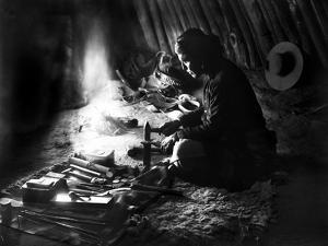 Navajo Silversmith, C1915
