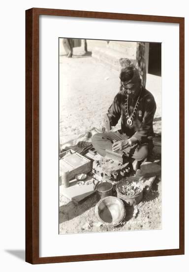 Navajo Silversmith--Framed Art Print