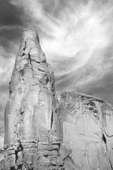 Navajo Skies BW-Douglas Taylor-Photographic Print