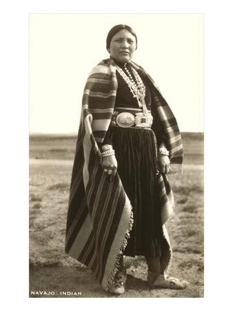 Navajo Woman--Art Print