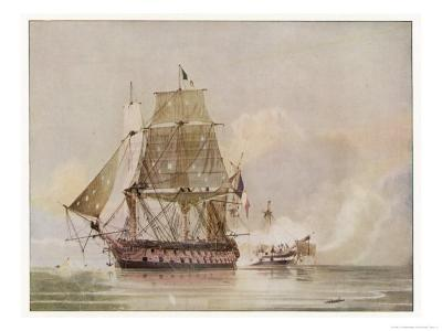 Naval Action off Candia Engagement Between the British Warship Leander and the French Le Genereux-C.h. Seaforth-Giclee Print