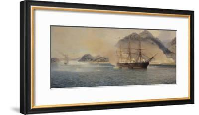 Naval Battle of the Strait of Shimonoseki, 20th July 1863, 1865-Jean Baptiste Henri Durand-Brager-Framed Giclee Print