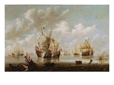 Naval Battle-Willem Van De, The Younger Velde-Giclee Print