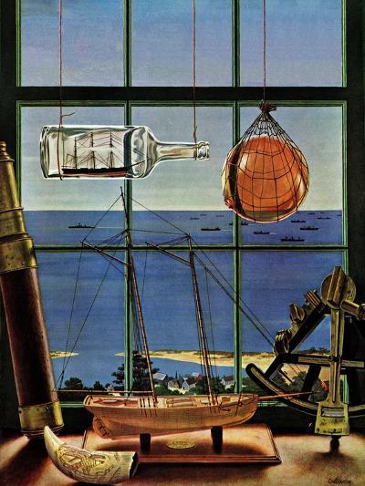 """Naval Convoy,"" August 26, 1944-John Atherton-Giclee Print"