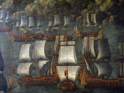 Naval Deployment, by Venetian Artist, Detail, Italy, 18th Century--Giclee Print