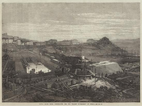Naval Docks Being Constructed for the Italian Government at Spezia--Giclee Print