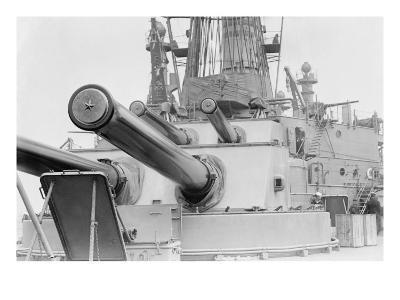 Naval Guns on the Battleship Michigan--Art Print