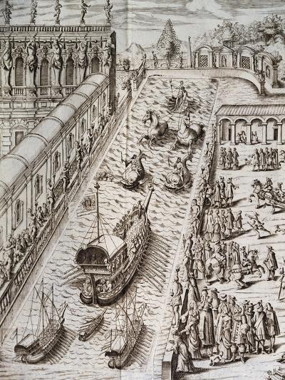 Naval Procession in Villa Contarini--Giclee Print