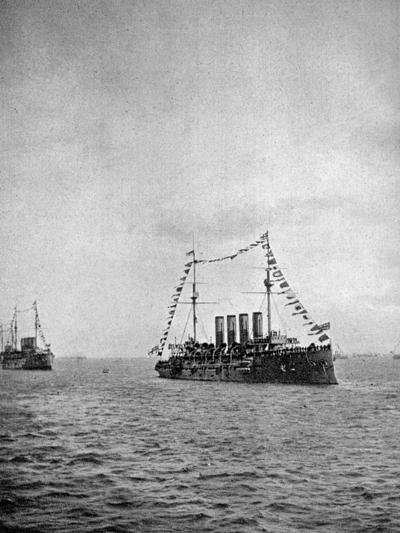 Naval Review Off the Coast of Portsmouth, 1907--Giclee Print