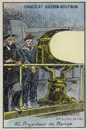 Naval Searchlight--Giclee Print