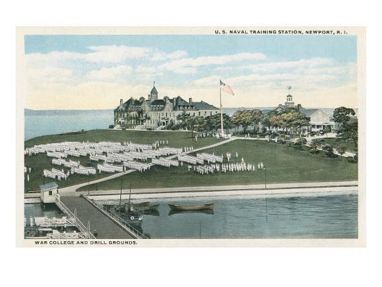 Naval Training Station, Newport, Rhode Island--Art Print