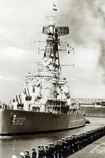 Naval Visit at Emden, Germany-German photographer-Photographic Print