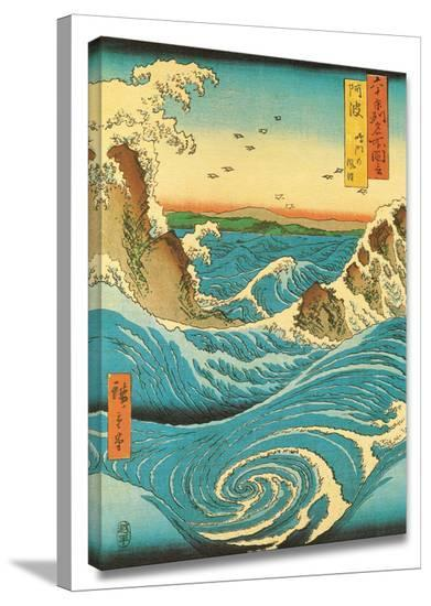 Navaro Rapids-Ando Hiroshige-Gallery Wrapped Canvas