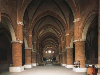 Nave of 12th Century Cistercian Abbey of Morimondo, Italy, 12th-13th Century--Giclee Print